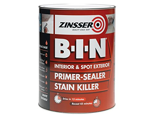 Zinsser B.i.n. Primer & Sealer Stain Killer Paint 2.5 Litre