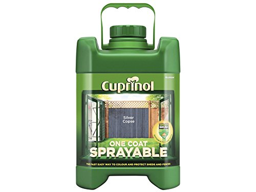 Cuprinol Cupsftsc5l 5 Litre Spray Fence Treatment Paint - Silver Copse
