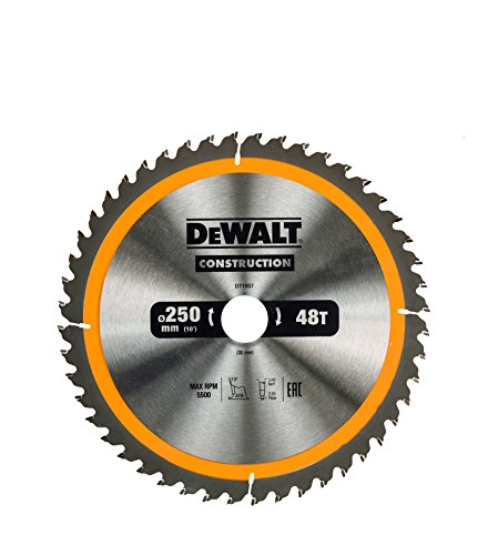 Dewalt Stationary Construction Circular Saw Blade 250 x 30mm x 48T