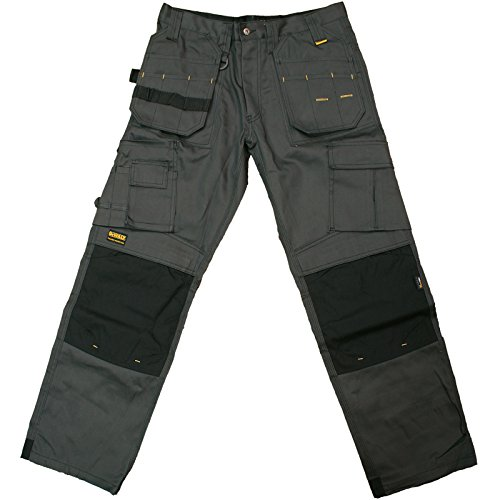 Dewalt Pro Tradesman Black/Grey Trousers Waist 36in Leg 31in