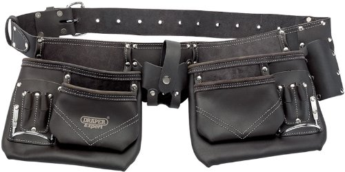 Draper Oil-Tanned leather Double Pouch Tool Belt