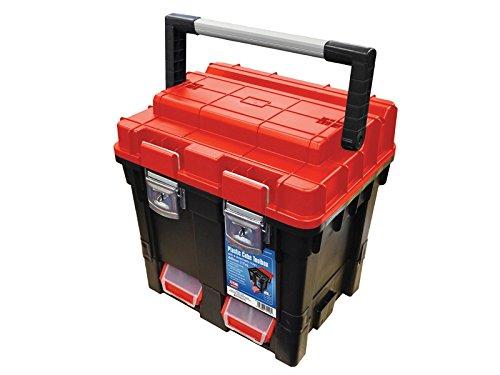 Faithfull Tools Plastic Cube Toolbox - 2 Trays 44cm (17in) Deep