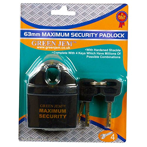 Green Jem 65mm Maximum Securirty Padlock