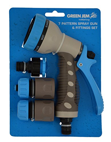 Green Jem 7 Dial Spray Gun And Fittings Set