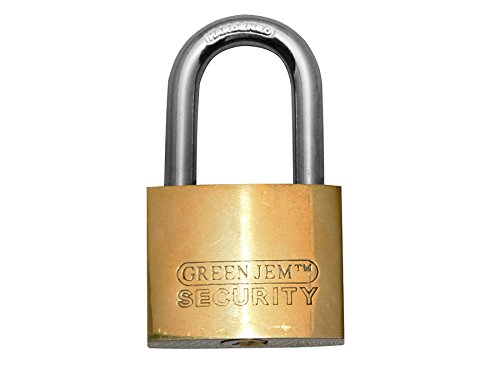 Green Jem Brass Padlock With 6 Keys - 20mm