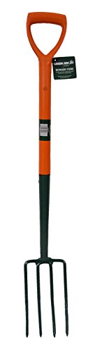 Green Jem Carbon Steel Border Fork - Orange