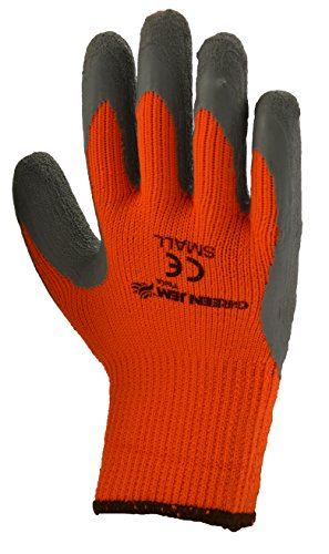 Green Jem Hi-Vis Winter Work Gloves - Orange - Small