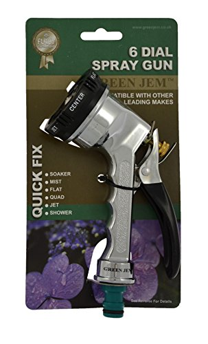 Green Jem Spray Gun with Chrome Plating (6 Dial)