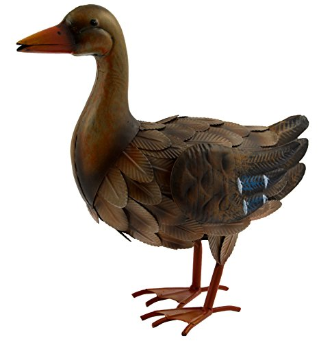 Green Jem Metal Duck Garden Decoration