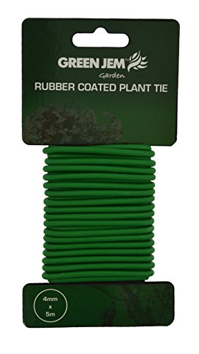 Green Jem Rubber Coated Plant Tie (5m)