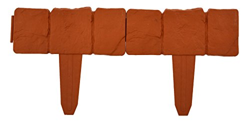 Green Jem Set of 4 Garden Fence - Terracotta