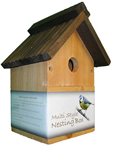 Green Jem Traditional Wooden Nesting Box, Brown, 18.5x16.5x26 Cm