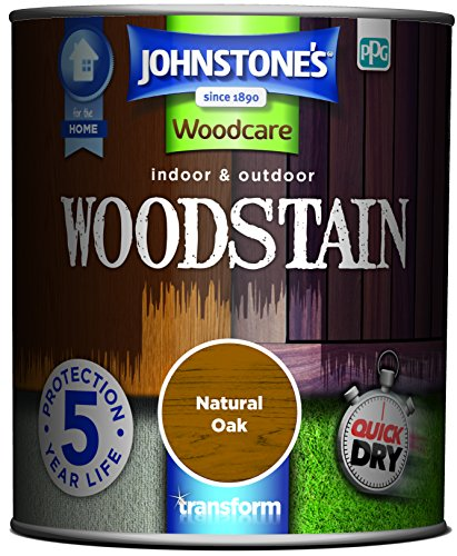 Johnstone's 750ml Woodcare Indoor & Outdoor Woodstain  - Natural Oak