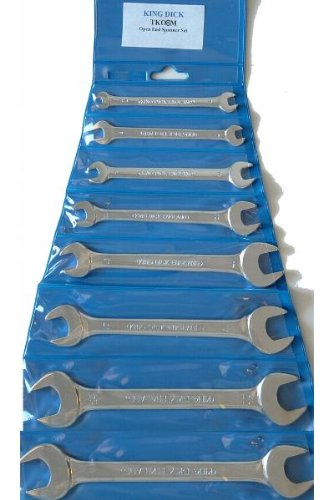King Dick Metric 6 -22mm 8 Piece Open Ended Wrench set