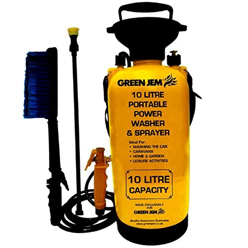 New 10 Litre Portable Pressure Washer Power Pump Car Jet Wash Brush Water Hose Lance Cleaner Br1000
