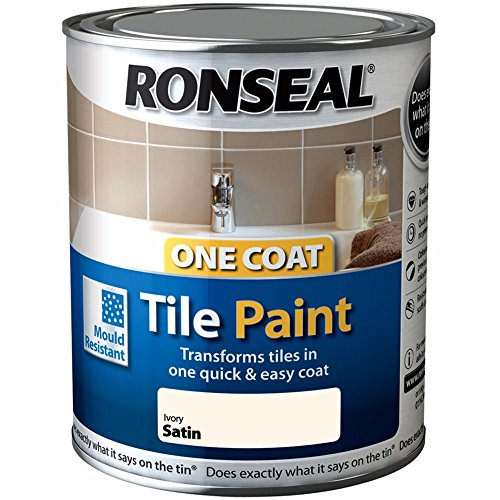 Ronseal One Coat Tile Paint - Ivory Satin 750ml