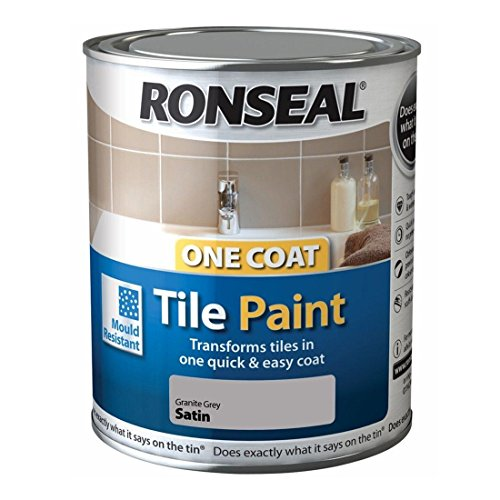 Ronseal One Coat Tile Paint - Granite Grey 750ml