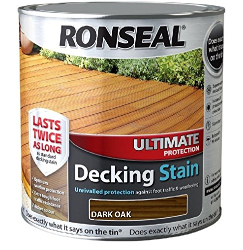 Ronseal Ultimate Protection Decking Stain - 5 Litre (5l) - Dark Oak