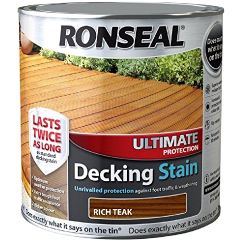 Ronseal Ultimate Protection Decking Stain - 5 Litre (5l) - Teak