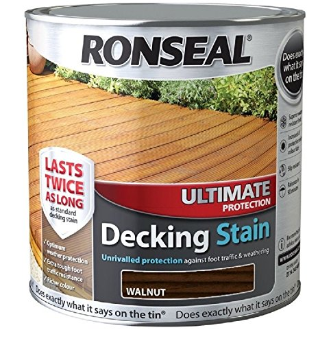 Ronseal Ultimate Protection Decking Stain - 5 Litre (5l) - Walnut