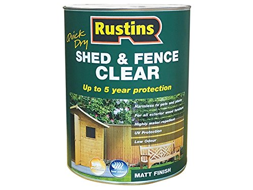 Rustins Quick Dry Shed and Fence Clear Protector 1 Litre
