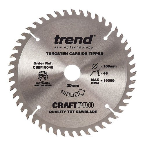 Trend Craft saw blade 160mm x 48 teeth x 20mm