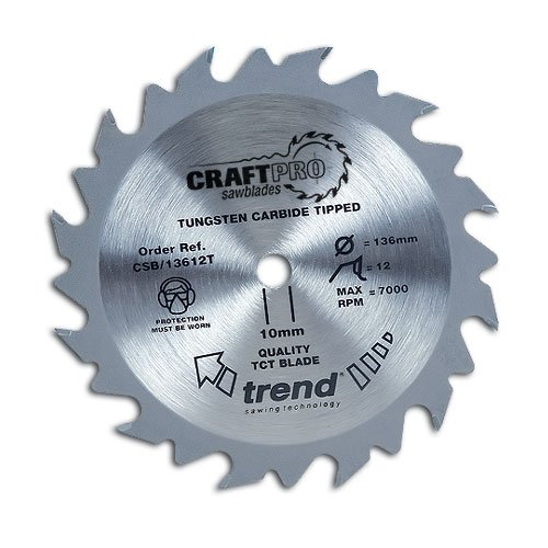 Trend Craft Saw Blade 165mm X 40 Teeth X 20 Thin