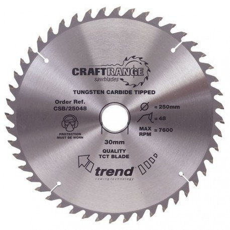 Trend Craft saw blade 165mm x 48 teeth x 20mm
