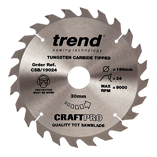 Trend Craft Saw Blade 190mm X 24 Teeth X 30mm