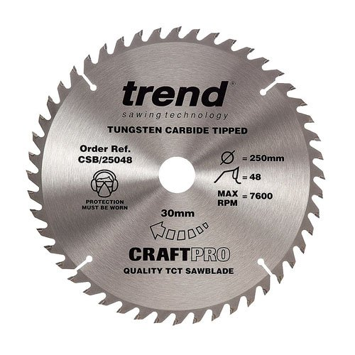 Trend Craft saw blade 250mm x 48 teeth x 30mm