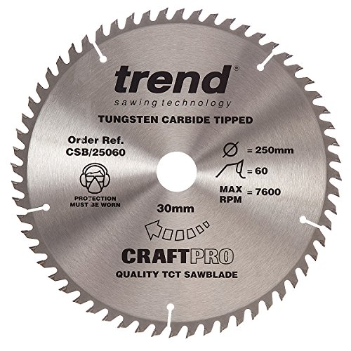 Trend Craft Saw Blade 250mm X 60 Teeth X 30mm