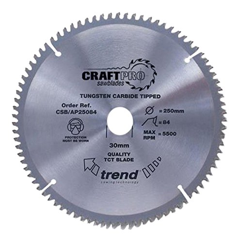 Trend Craft Saw Blade Aluminium And Plastic 216mm X 64 Teeth X 30mm