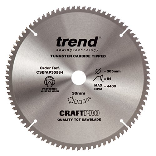 Trend Craft Saw Blade Aluminium And Plastic 305mm X 84 Teeth X 30mm