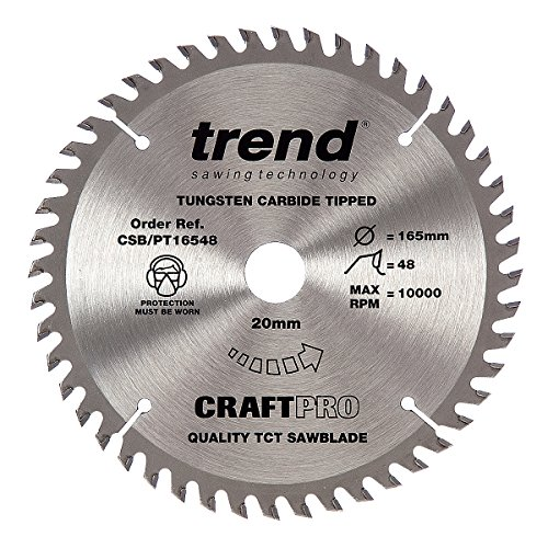 Trend Craft Saw Blade Panel Trim 165mm X 48 Teeth X 20mm