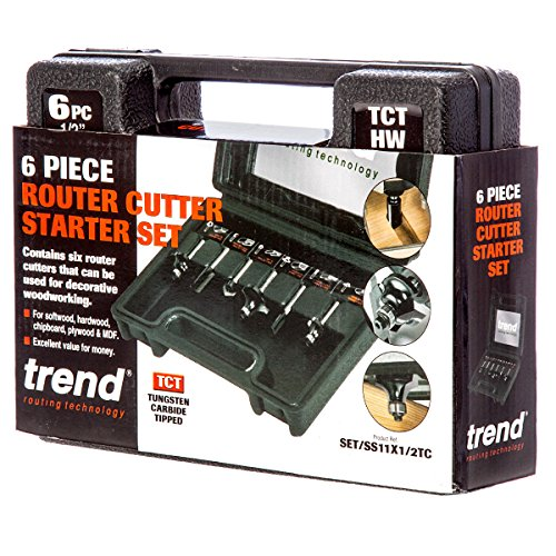 Trend 6 Piece Router Cutter Starter Set - 1/2in Shank