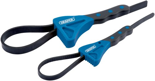 Draper Soft Grip Strap Wrench Set (2 piece)