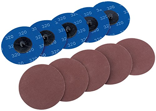 Draper Sd3ab 320 Grit Aluminium Oxide Sanding Discs, Blue, 75 Mm, Set Of 10 Piece
