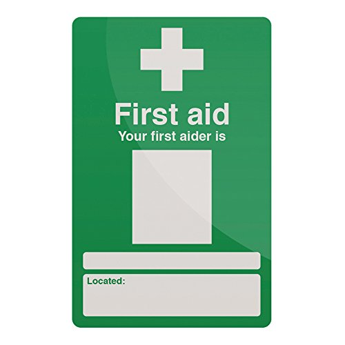 FIXMAN Your First Aider Sign 200 x 300mm Rigid