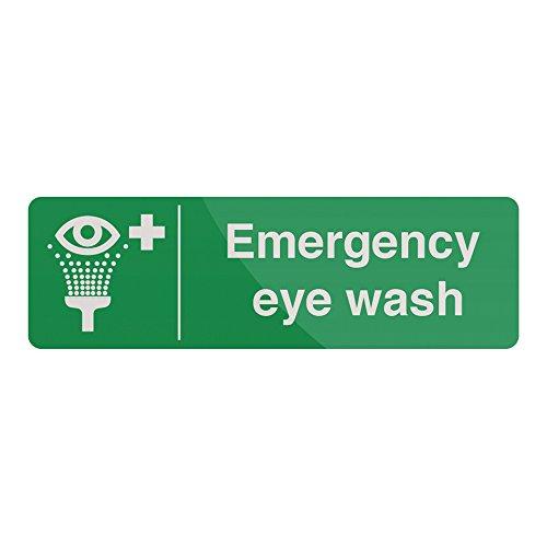 FIXMAN Emergency Eye Wash Station Sign 300 x 100mm Self-Adhesive