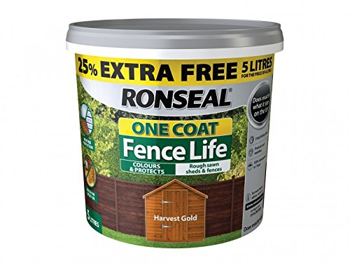 Ronseal Rslflhgn4lav One Coat Fence Life Harvest Gold New 4 Litre +25%