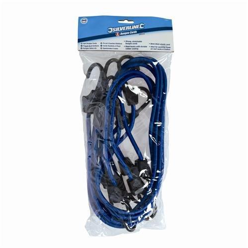 Silverline Bungee Cords 6pk 900mm