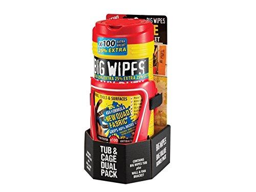 Big Wipes Heavy-Duty Wipes Tub of 80+25% Inc Bracket