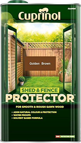 Cuprinol Shed & Fence Protector Gold Brown 5 Litre
