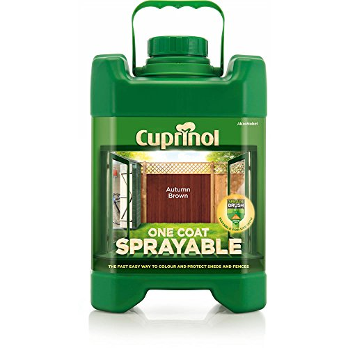 Cuprinol Spray Fence Treatment Autumn Brown 5 Litre