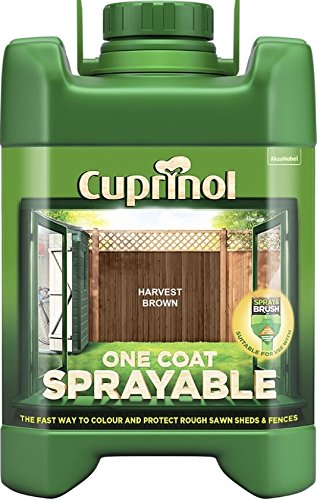 Cuprinol Spray Fence Treatment Harvest Brown 5 Litre