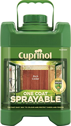 Cuprinol Spray Fence Treatment Rich Cedar 5 Litre