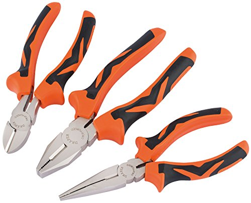Draper Soft Grip Pliers Set (3 piece)
