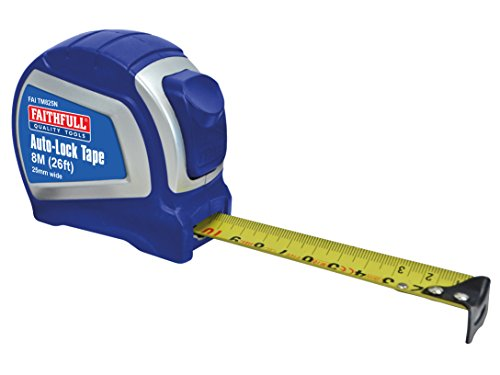 Faithfull Tools 8 M/26 Ft Tape Measure - Blue