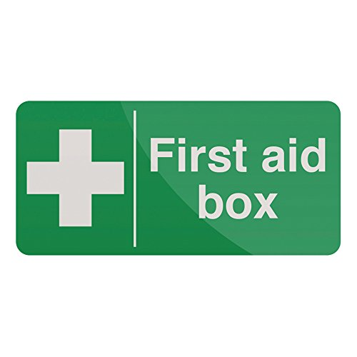 FIXMAN First Aid Box Sign 200 x 100mm Self-Adhesive