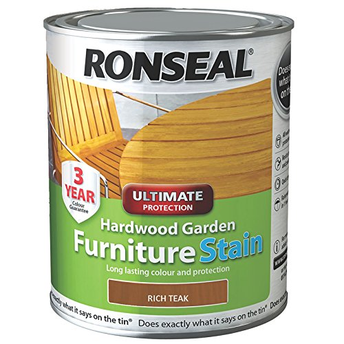 Ronseal Ultimate Protection Hardwood Garden Furniture Stain Rich Teak 750ml